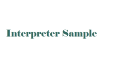 Tarifa diaria (intérprete): Listing sample (For interpreters)